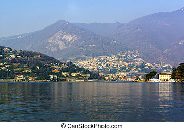 view of the Lake Como in Italy