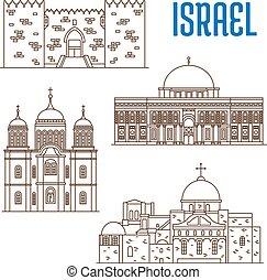 sightseeings, architecture, landmarks of Israel