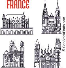 sightseeings, történelmi, franciaország, épületek