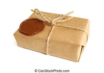 sigillatura, pacchetto, cera