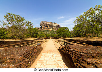 sigiriya, ライオン, sri - lanka, 要塞, 岩