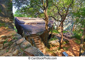 sigiriya, 花园, 在中, 斯里兰卡
