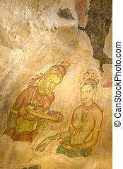 Sigiriya Frescos, Sri Lanka