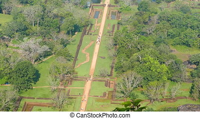Sigiriya garden in Sri Lanka - view from rock - Sigiriya...