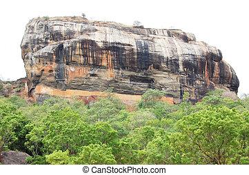 sigiriya, rock., antiga, famosos, sri lanka