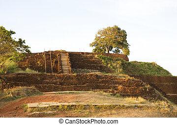 sigiriya, rock), (lion's, lanka, sri