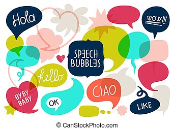 siglas, burbuja, charla