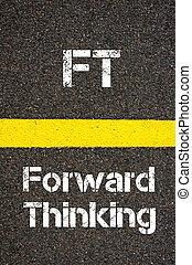 siglas, delantero, pies, empresa / negocio, pensamiento