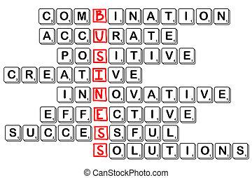 siglas, empresa / negocio, -combinative, accura, crea, te, ...
