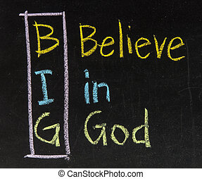 siglas, grande, creer, -, dios