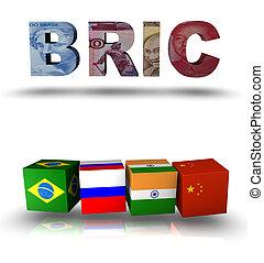 siglas, india, china, bric, brasil, rusia