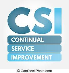 siglas, -, mejora, servicio, csi, continuo