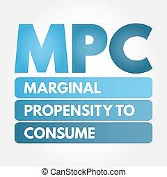siglas, -, mpc, propensión, consumir, marginal