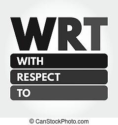 siglas, wrt, respeto, concepto, -