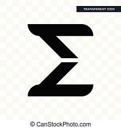 sigma vector icon isolated on transparent background, sigma logo design