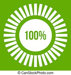 Sign 100 download icon green
