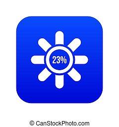 Sign 23 load icon digital blue