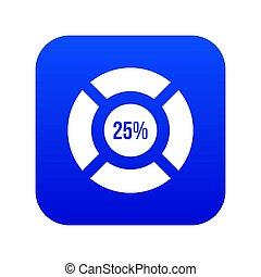 Sign 25 load icon digital blue