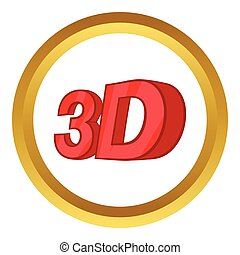 Sign 3d vector icon