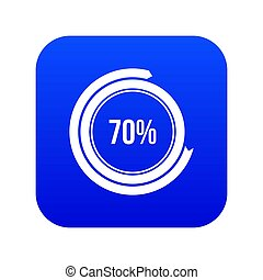 Sign 70 load icon digital blue