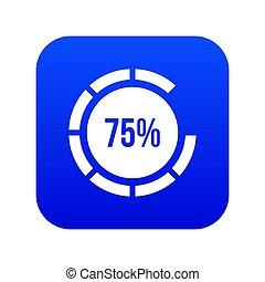 Sign 75 load icon digital blue