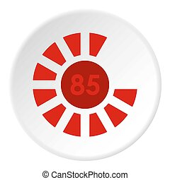 Sign 85 load icon circle