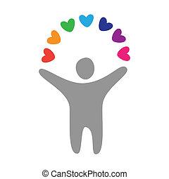man-love-peace - sign - a man-love-peace