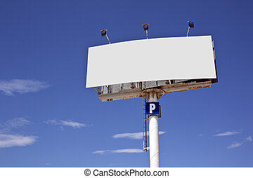 Sign - Add Text or Image - Blank advertising sign - Add your...