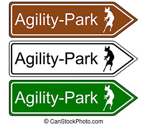 Sign agility park, for dogs