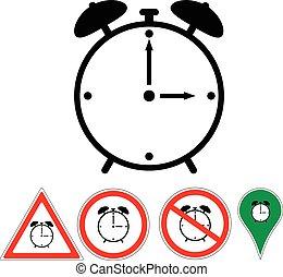 sign alarm clock