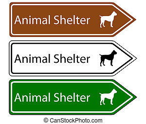 Sign animal shelter