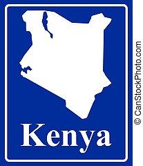 silhouette map of Kenya