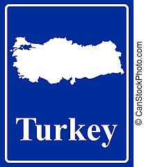 silhouette map of Turkey