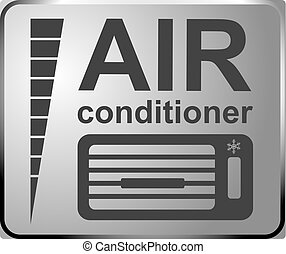 Sign auto service, car fix sign AIR conditioner service. Banner design vector.