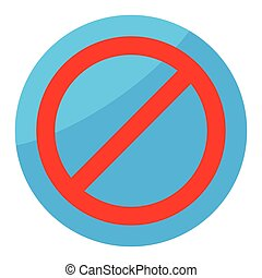 Sign ban isolated round