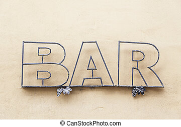 Sign bar in town