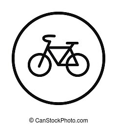 Sign bike icon, simple style