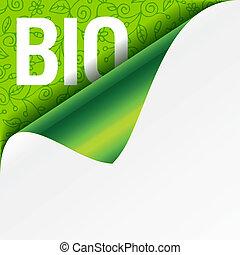 Sign Bio - curled corner