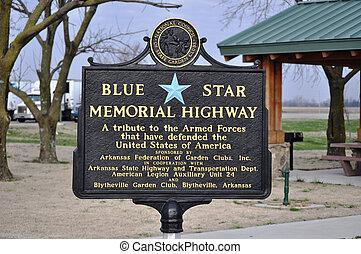 Sign Blue Star Memorial Highway