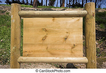 sign board - wooden sign board ready to put information