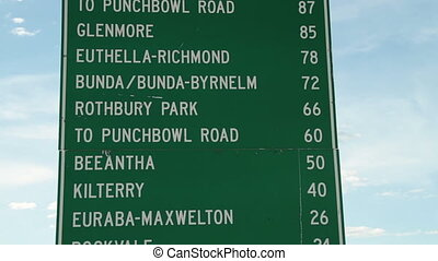 Sign board with locations - A medium shot of board with...