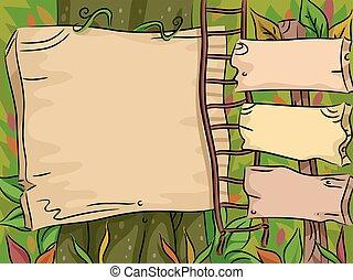 Sign Boards Jungle Adventure
