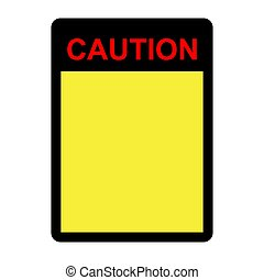 Sign - Caution - Blank 01A