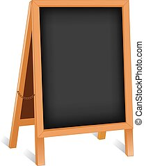 Sign, Chalk board Folding Easel - Sidewalk chalk board sign,...