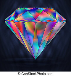 Sign Colorful Rainbow Crystal Gemstone. - Sign Colorful...