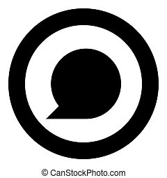 Sign commentary black icon in circle vector illustration