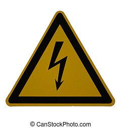 danger high voltage - Sign: danger high voltage