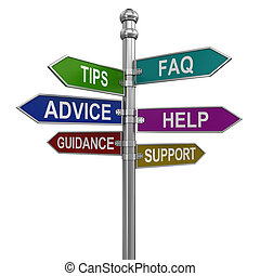 Sign Directions (clipping path incl