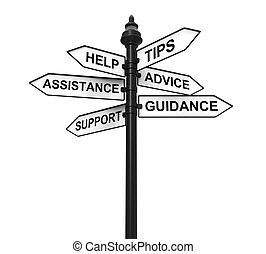 Sign Directions Support Help Tips
