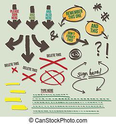 Sign Document Reminder Design Eleme